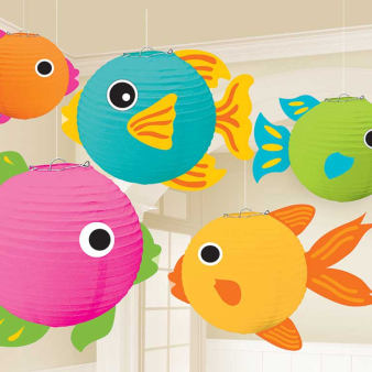 Fish Lanterns with add-ons - 6 PKG/5