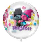 """Trolls Clear Orbz Balloons 15""""/38cm w x 16""""/40cm h G40 - 5 PC"""