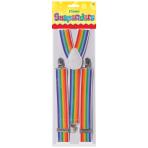 Rainbow Clown Braces - 12 PC
