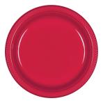 Apple Red Plastic Plates 23cm - 10 PKG/10