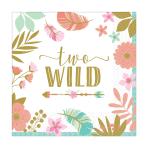 "Boho Birthday Girl ""Two Wild"" Luncheon Napkins 33cm - 12 PKG/16"