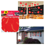 Valentine Heart Big Pack Cut-outs 12.7cm, 17.8cm & 30.5cm - 6 PKG/30