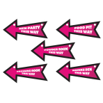 Hen Night Direction Signs - 6 PKG/6