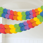 Rainbow Paper Garlands 3.65m - 6 PC