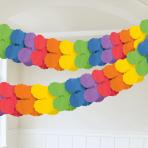 Rainbow Paper Garlands 3.65m - 6 PC