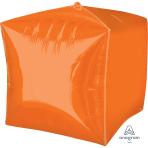 """Cubez Orange Unpackaged Foil Balloons 15""""/38cm G20 - 3 PC"""