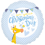 Christening Day Blue Standard Foil Balloons S40 - 5 PC