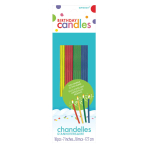 Thin Assorted Sparkling Candles 17.7cm - 36 PKG/18