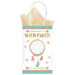 Boho Birthday Girl Kraft Bags 13.3CM X 21.2CM X 8.2CM - 12 PKG/8