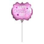 Happy Mother's Day Marquee Satin Luxe MiniShape Foil Balloons A30 - 5 PC