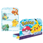 Pokémon Invitations - 6 PKG/8