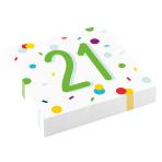 Confetti Birthday 21st Birthday Luncheon Napkins 33cm - 10 PKG/20