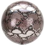 Animalz Snake Skin Print Orbz Foil Balloons G20 - 5 PC