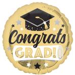 Congrats Grad Shiny Gold Standard Foil Balloons S40 - 5 PC
