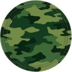 Camouflage Paper Plates 22.8cm - 12 PKG/8