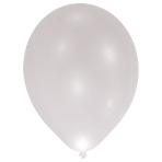 """LED Latex Balloons Silver 11""""/27cm - 12 PKG/5"""