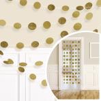 Gold Glitter String Decoration 2.13m - 6 PKG/6