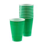 Festive Green Plastic Cups 355ml - 20 PKG/50