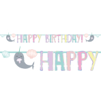 Narwhal Letter Banners 2.4m - 6 PC