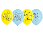 "Pokemon 4 Sided Latex Balloons 11""/27cm - 6 PKG/6"
