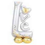 "L-O-V-E Wedding AirLoonz Large Foil Balloons 29""/73cm x 58""/147cm P70 - 3 PC"