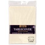 Vanilla Creme Round Plastic Tablecovers 2.13m - 12 PC