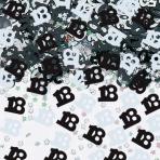 Black/Silver 18 Metallic Confetti 14g - 12 PC
