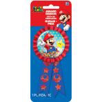 Super Mario Confetti Award Ribbons - 6 PC