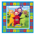 Teletubbies Beverage Napkins 25cm - 6 PKG/16