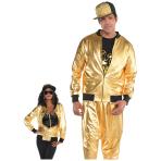 Hip Hop Unisex Gold Jackets - 2 PC