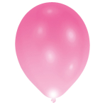 """LED Latex Balloons Pink 11""""/27cm - 12 PKG/5"""