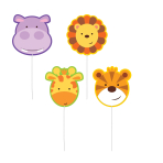 Jungle Friends Pick Candles - 6 PKG/4