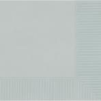 Silver Beverage Napkins 25cm - 12 PKG/50