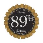 Gold Sparkling Celebration Add an Age Badges - 6 PC