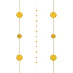 Gold Balloon Fun Strings 1.82m - 6 PC