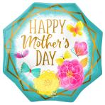 "Happy Mother's Day Octagon SuperShape Foil Balloons 22""/55cm w x 22""/55cm h P32 - 5 PC"