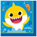 Baby Shark Luncheon Napkins 33cm - 6 PKG/16