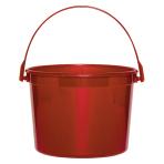 Apple Red Plastic Bucket - 12 PKG