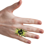 Glow in the Dark Spiders Rings 3.8cm - 24 PKG/4
