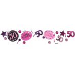 Pink Sparkling Celebration 50th 3 Pack Value Confetti 34g - 12 PC