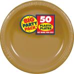 Gold Plastic Plates 28cm - 6 PKG/50