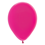 "Crystal Solid Fuchsia 312 Latex Balloons 12""/30cm - 50 PC"
