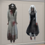 Ghost Girls Scene Setter Add-ons 1.65m x 85cm - 12 PKG/2