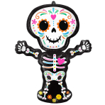 """Day of the Dead Standing SuperShape Foil Balloons 26""""/66cm w x 34""""/86cm h P35 - 5 PC"""