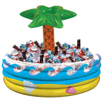 Tropical Palm Tree Inflatable Coolers - 4 PC