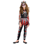 Teens Scared to the Bone Day of the Dead Costume - Age 12-14 Years - 1 PC