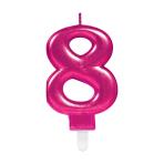 Pink Metallic Finish Candles #8 - 12 PC