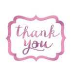 Pink Thank You Stickers - 12 PKG/50
