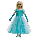 Turquoise Sparkle Princess Costume - Age 6-8 Years - 1 PC