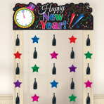 Happy New Year Doorway Curtains 1.95m x 99cm - 6 PC